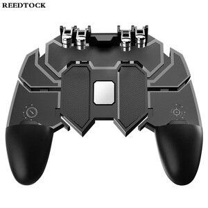 Image 2 - หกนิ้ว PUBG เกมคอนโทรลเลอร์ Gamepad โลหะ Trigger ยิงไฟฟรี Gamepad จอยสติ๊กสำหรับโทรศัพท์มือถือ