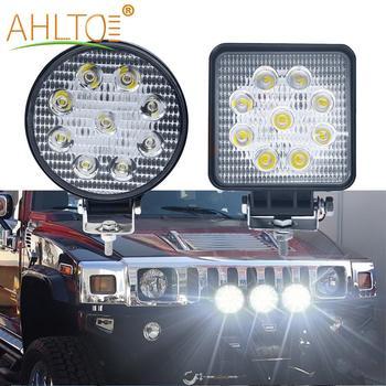 цена на 1pcs 27W Work Light Car Led Flood Spot LED 12 volt led work lights for 4X4 ATV offroad trucks tractor 24V fog lamps