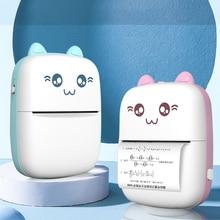 Tragbare Mini Thermische Drucker Drahtlos BT 203dpi Foto Label Memo Falsche Frage Druck mit USB Kabel imprimante tragbare