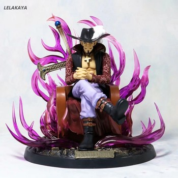 20cm Anime ONE PIECE Dracule Mihawk Eagle Eye GK Statue Sitting Throne Ver. PVC Action Figure Collectible Model Toys Gift Doll