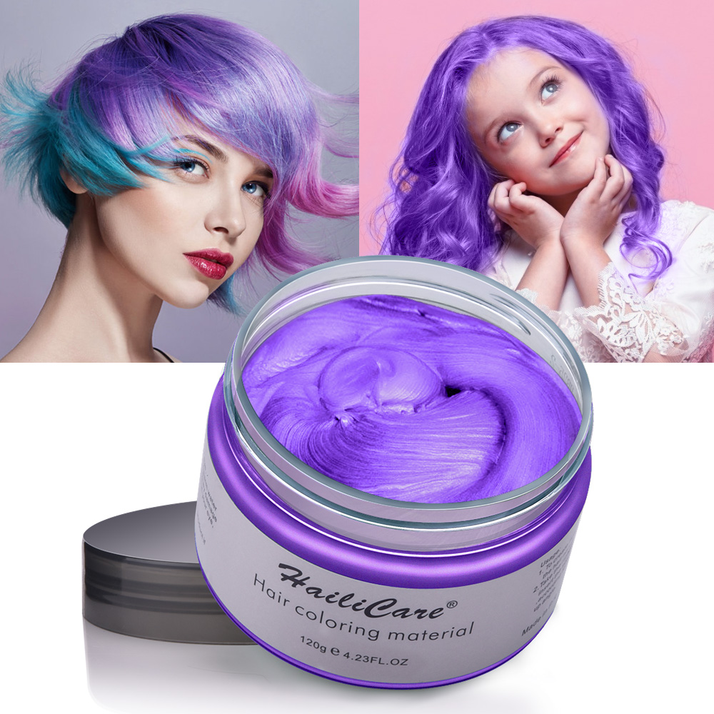 Hair Color Wax Styling Pomade One-time Molding Grandma Grey Fashion Festival Celebrate Coloring Mud Cream 7 Colors Available 2