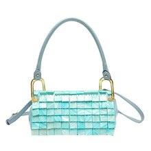 Underarm bag ladies advanced design 100% handmade natural shell bag new handmade square shoulder bag handbag