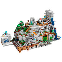 Mountain Cave Building Block With Steve Alex Action Figure Compatible MinecraftINGlys 21137 My World Bricks Set Gifts Toys