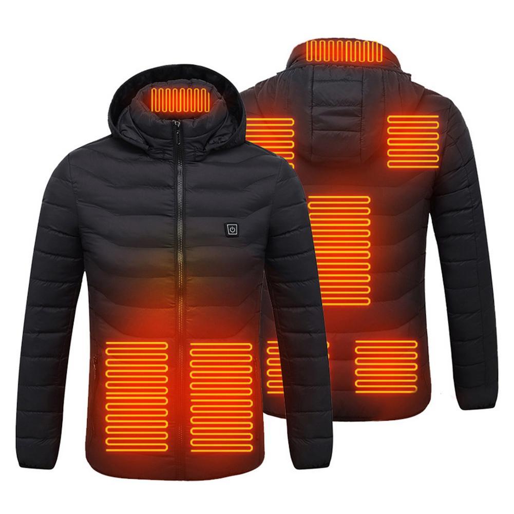 USB электрическое Отопление куртка 8 зон инфракрасная нагревательная Водонепроницаемый с подогревом для занятий лыжным спортом и альпинизм ...