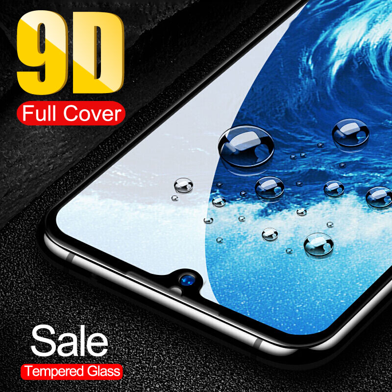 9D Full Cover Screen Protector On For Huawei Y9 Y6 Pro Y7 2019 Protective Film For Huawei Y7 Y5 Y6 Prime 2018 Y7s Tempered Glass