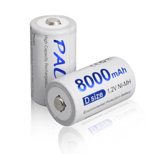 Palo 100% Original Rechargeable D Battery 8000mah d Battery Rechargeable for Water heater