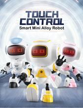 Early education robot touch-sensitive LED light effect desktop electronic pet children's toys intelligent action figure