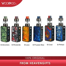 Original VOOPOO Drag Mini TC Kit 4400mAh w/ Drag 2 Mod Battery & 5ml/2ml UFORCE T2 Tank & Upgraded Firmware Box Mod vs Luxe Kit voopoo drag mini kit 117w resin vape box mod with uforce t2 tank p2 coil 4400mah built in battery gene fit chip vs drag 157w