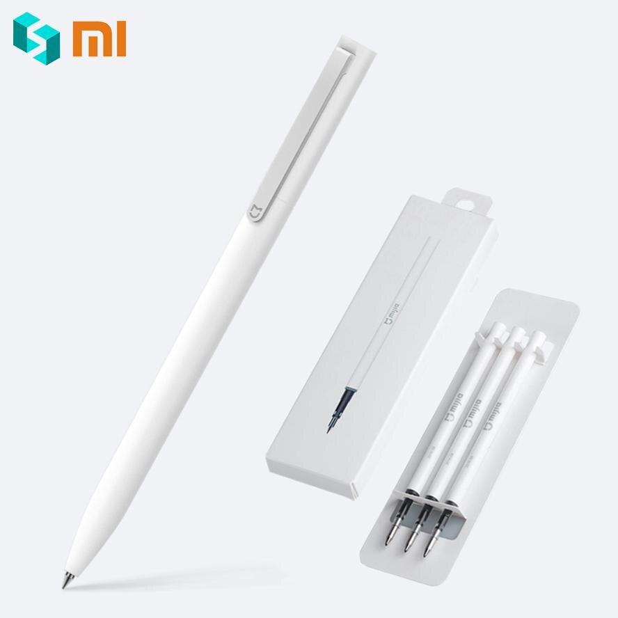 Оригинальная ручка Xiaomi Mijia, с швейцарскими стержнями 0,5 мм, премиум шариковая ручка 143 мм с черными чернилами для подписи