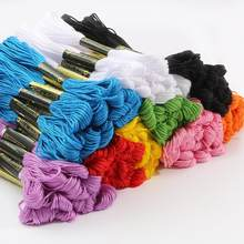 5 pçs/10 pçs multicolorido bordado fio dental ponto cruz kit sólido pequeno laço bordado diy fios artesanato algodão costura acessórios