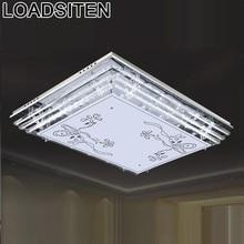 luminaria plafoniera for luminaire lamp sufitowe lampara de techo living room crystal plafonnier led ceiling light