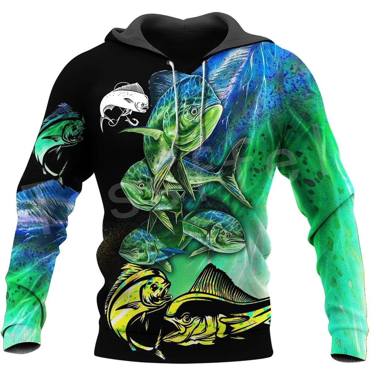 Tessffel New Fashion Animal Camo Bass Fishing Fisher Tracksuit Harajuku Unisex 3DPrinted Zipper/Hoodies/Sweatshirts/Jacket s-13