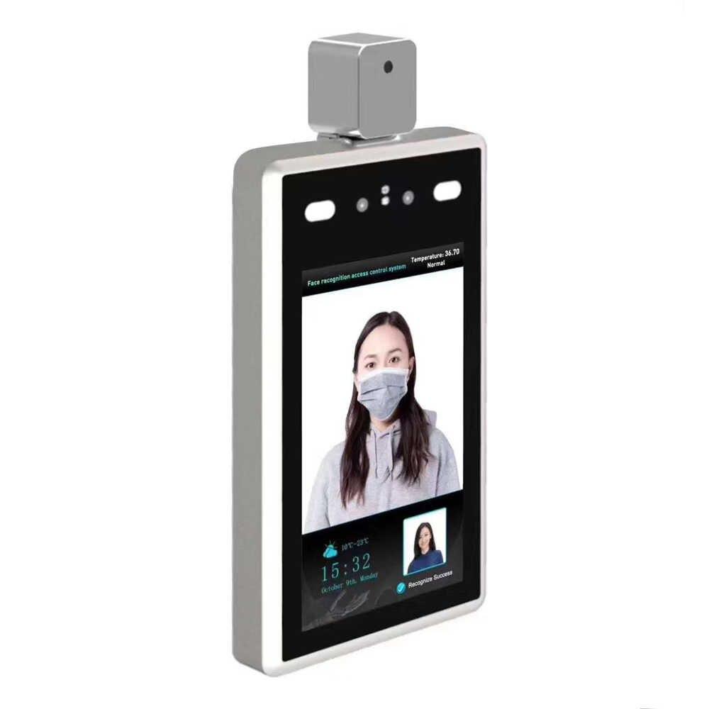 7-дюймовая камера для распознавания лиц с температурой тела, ip термальная камера безопасности, термальная камера для обнаружения человека, распознавание лица с контролем доступа