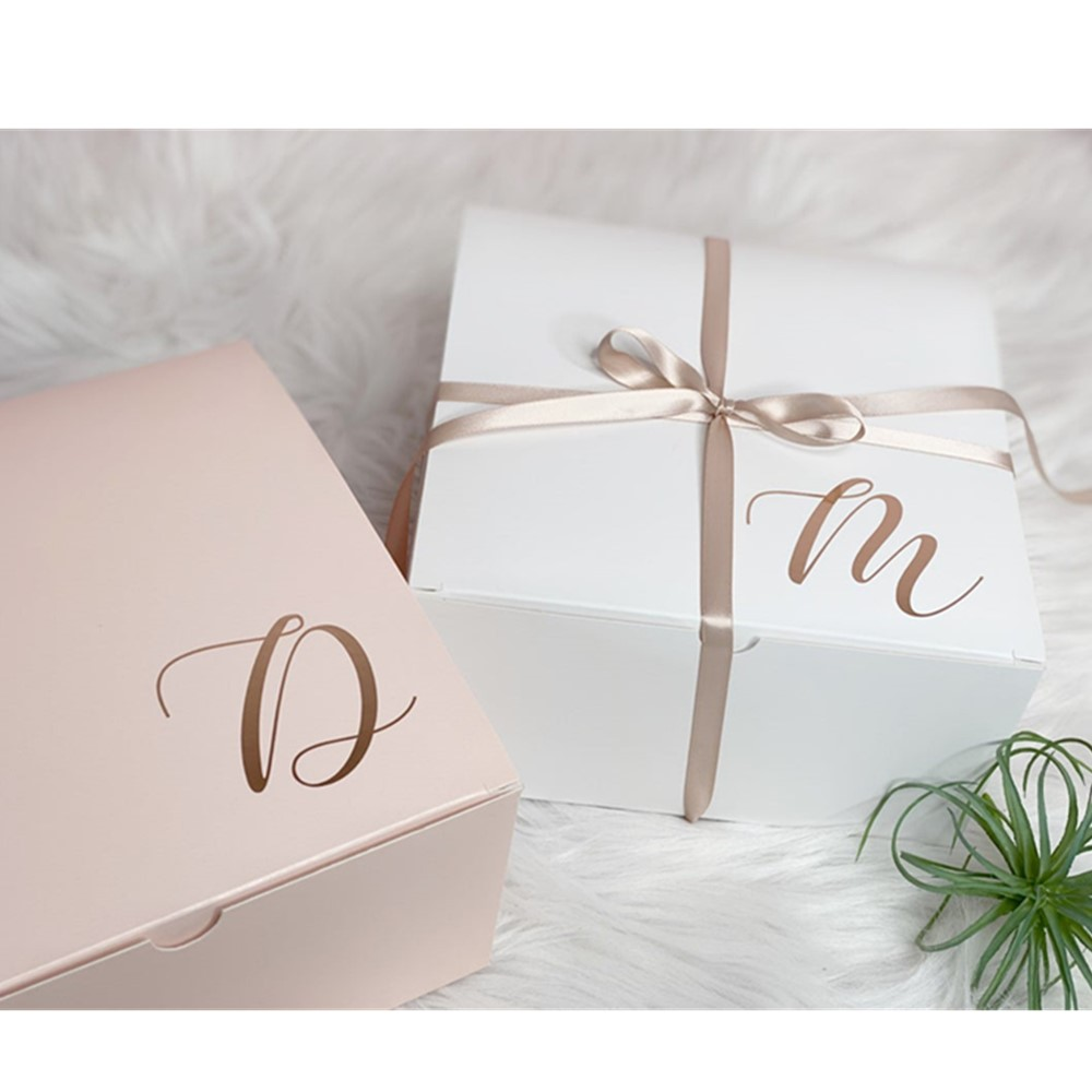 Personalized Bridesmaid Initial Proposal Boxes Will You Be My Bridesmaid Boxes Custom Wedding Gift Boxes Bridesmaids Gifts Gift Bags Wrapping Supplies Aliexpress
