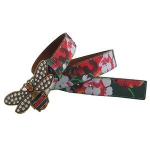 Image 4 - Cinturón de cuero con hebilla de abeja y diamantes de imitación para mujer