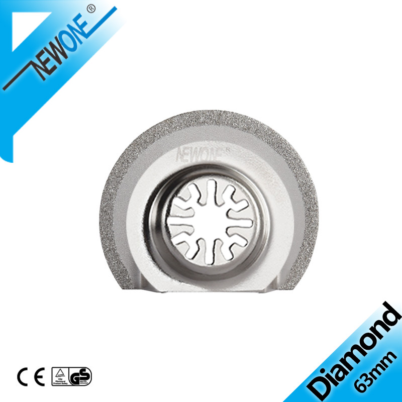 NEWONE Diamond 63mm Flush Segment Oscillating Tool Saw Blade For Cutting Out Marble Trimmer Renovator Power Tool Accessories