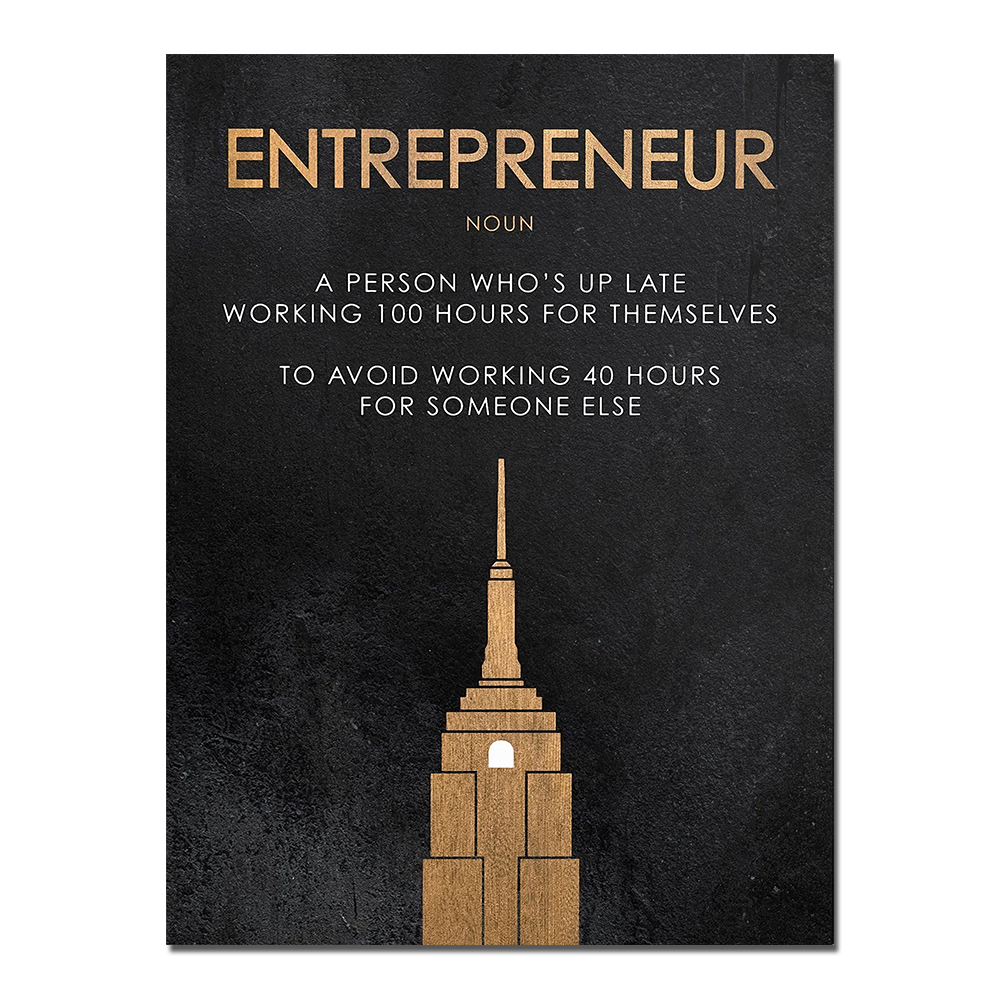 """AAHH """"Entrepreneur"""" Motivational Quote Print Home Wall Decor Print on Canvas"""