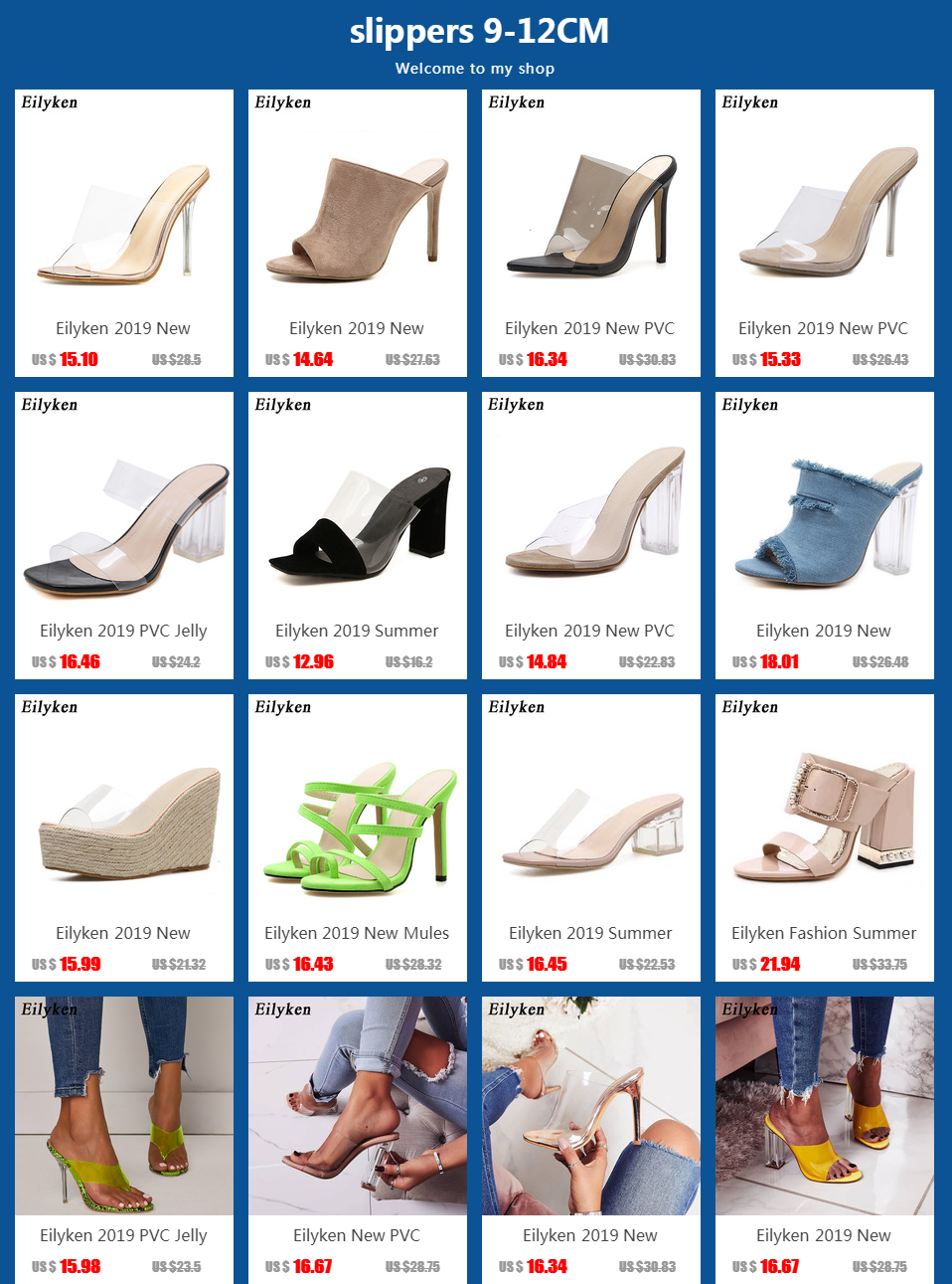 H788dcd10c6954b17ad1307df2837ab95z Eilyken 2019 Summer Rome Sandals Women Leisure slippers Fashion Women's Sandals Slides shoes Square heel 9.5cm