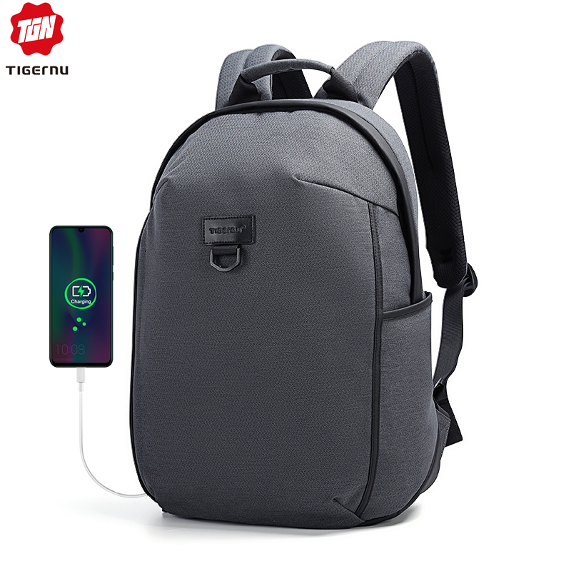 Tigernu 2020 New Fashion Style 15.6 Inch Anti Theft Laptop Backpack Men 18L Waterproof School Backpacks Male Casual Bags For Men