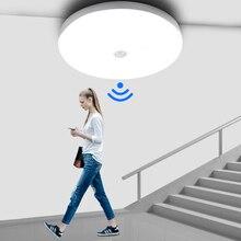 110V 220V Led veilleuses capteur de mouvement nuit lampe PIR capteur Lmaps Smart Led lumière 20W 30W 40W lampes murales pour couloirs descalier
