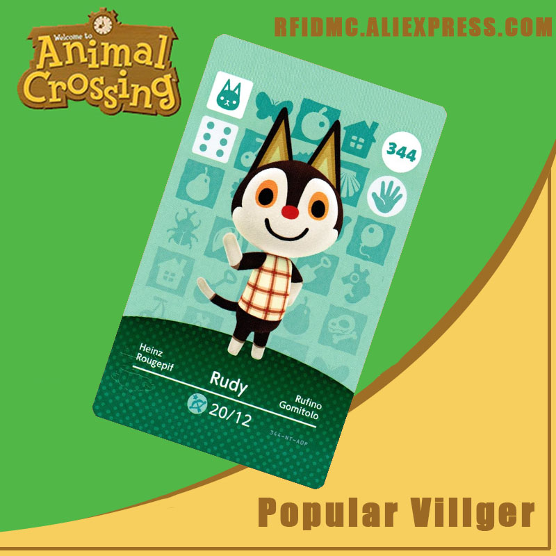 344 Rudy Animal Crossing Card Amiibo For New Horizons