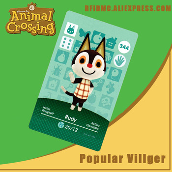 344 Rudy Animal Crossing Card Amiibo For New Horizons