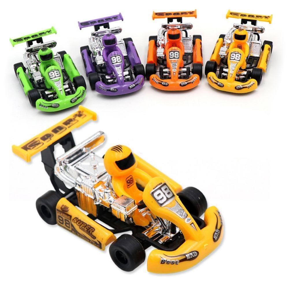 New Pullback Racing Car Mini Cartoon Cars Childrens Educational Toys Gifts For Children Random Color