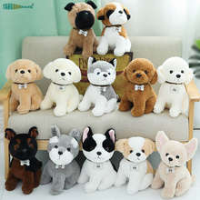 Soft Stuffed Animal Doll 22-40cm Teddy dog Plush Toys Shiba Inu Corgi Husky Shepherd dog Bulldog kids toy Christmas Gift(China)