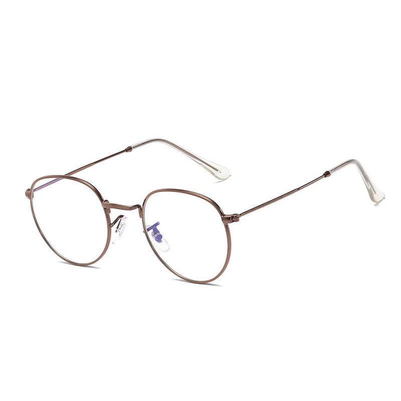 RBRARE Classic Round Glasses Frame Women Men Vintage Retro Clear Eyeglasses For Female Metal Frame Eyewear Oculos Clear Glasses in Women 39 s Eyewear Frames from Apparel Accessories