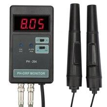 Профессиональный онлайн PH ОВП-монитор светодиодный дисплей аквариума плавать рыбный бассейн воды Qualilty pH ORP тестер данных замок электродный датчик