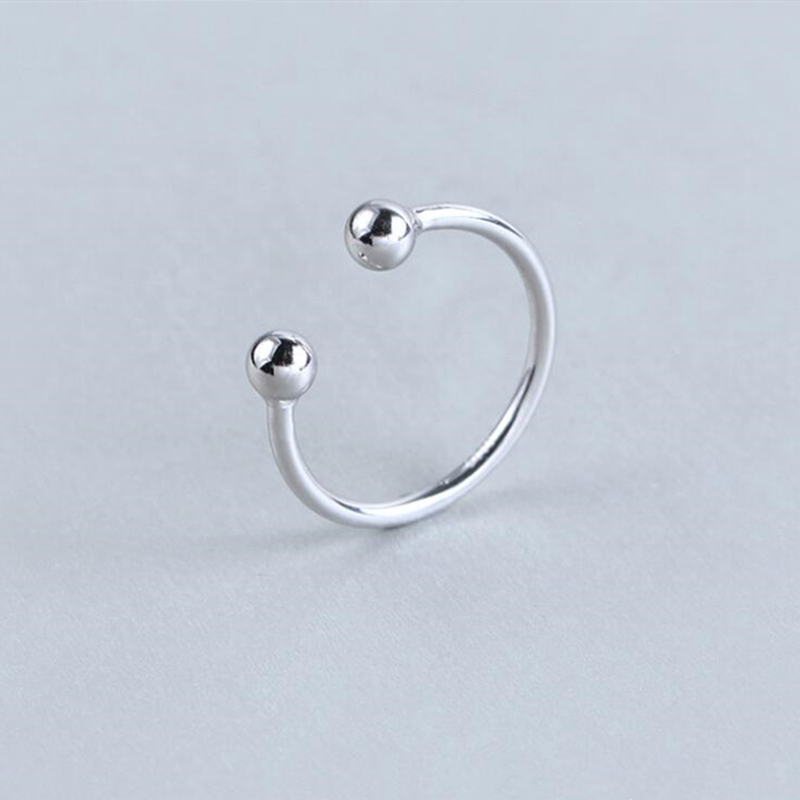 New 100% 925 Sterling Silver Fashion Women Cute Round Rings Size 5 6 7 Wonderful Gift For Girls Teen Lady's