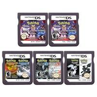 DS Video oyunu kartuşu konsolu kart derleme Pokeon Black2 White2 HeartGold SoulSilver 2 In 1 Nintendo DS için 3DS 2DS
