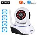 KERUI 720P 1080P Mini interior inalámbrico de seguridad Wifi IP Cámara hogar CCTV cámara de vigilancia 1MP 2MP Tuya Smart Life visión nocturna