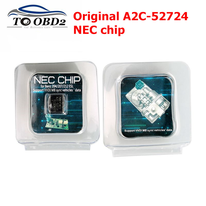 Transponder A2C-45770 A2C-52724 NEC Chips For Benz W204 207 212 For ESL ELV Original A2C 45770/52724 NEC Chips For Mercedes