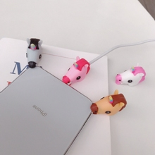 Cartoon Cute Unicorn Cable Phone Charger Protector Cord Data Line Cover Decorate Smartphone Wire Accessories