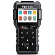 TOPDON Artilink600 AL600 Full OBD2 Scanner Engine Code Reader OBD Car Diagnostic Scan Tool OBDII Auto Scanner Engine Analyzer