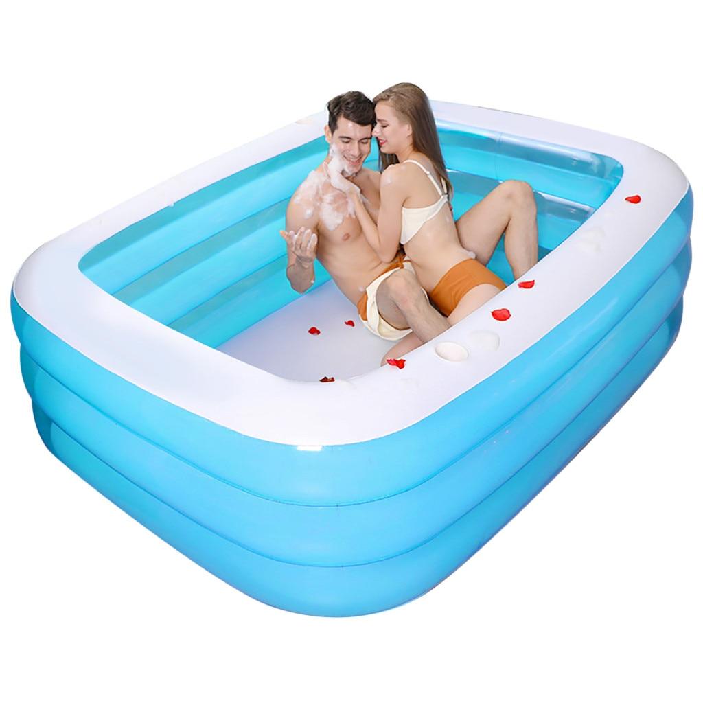 Jeux de piscine famille piscine jardin extérieur été gonflable enfants pataugeoires natation pour enfants