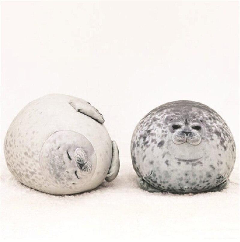 20cm 60cm Cute Sea Lion Plush Toys Soft Marine Animal Seal Stuffed Doll for Kids Gift Sleeping Pillow 3D Novelty Throw Pillows 1
