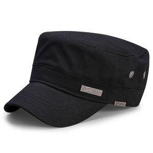 Image 2 - Spring Big Head Man Large Size Army Flat Cap Men Summer Cotton Plus Size Mesh Military Hat 55 60cm 60 65cm