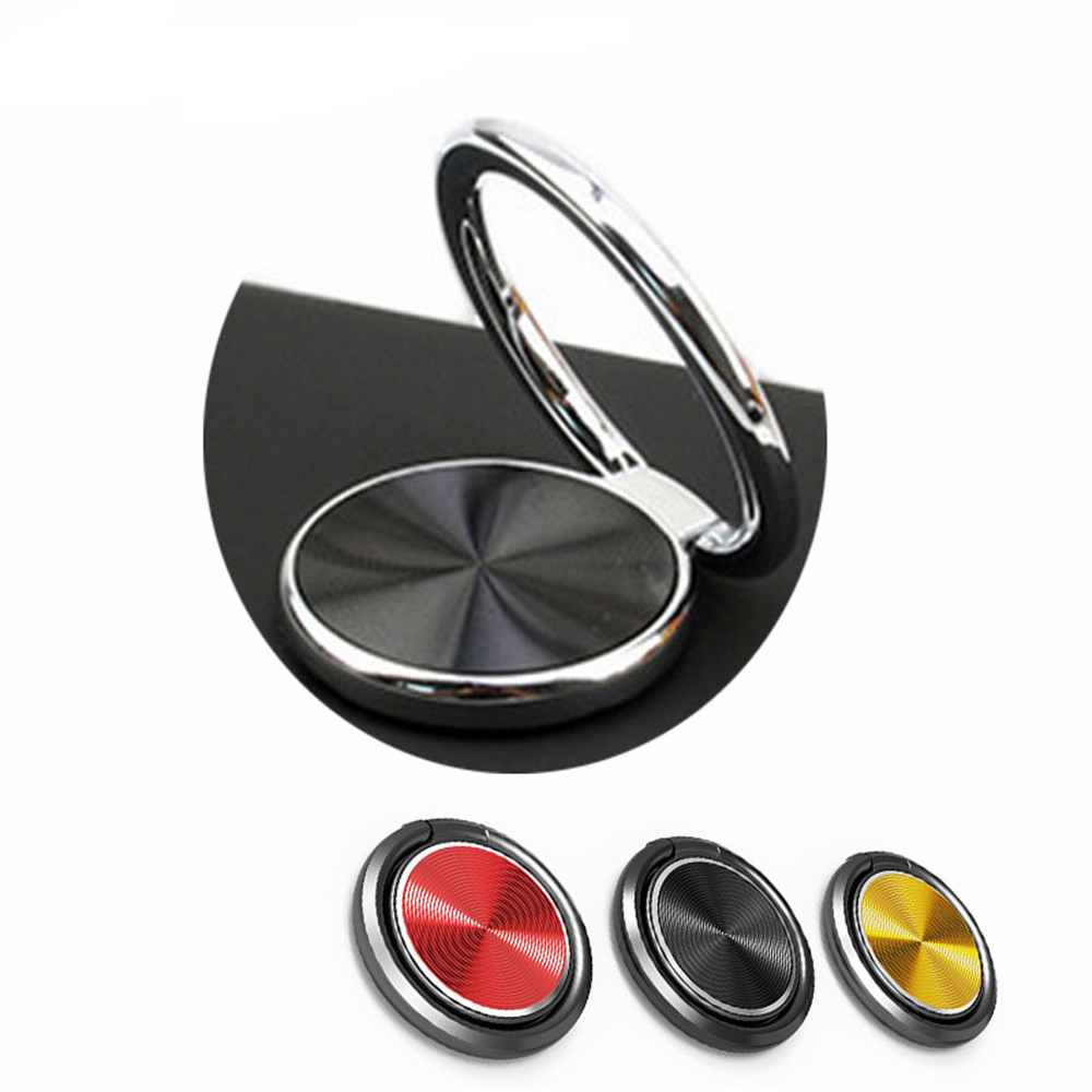 New Arrival Luxury 360 Degree Metal Finger Ring Holder For IPhone 11 X XS Samsung  Mobile Phone Finger Holder Tablets Holder
