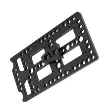 Kayulin Aluminium legierung Perforierte Käse Platte Mit Quick Release Männlichen V Lock Halterung Für Kamera Batterie System