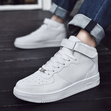High Top Men Sneakers Comfortable Leather Women Running