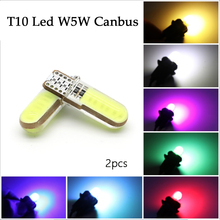 t10 w5w silicone case cob led car wedge interior light wy5w 194 501 auto parking trunk bulbs turn side lamps canbus error free 2pcs COB Error Free T10 Led W5W Canbus 194 168 Car Clearance License Plate Light Bulbs Interior Side Wedge Light Silicone Lamp