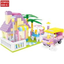 270Pcs Princess Dream Castle House Building Blocks Sets LegoINGLs Friends Girls Figures DIY Bricks Educational Toys for Children