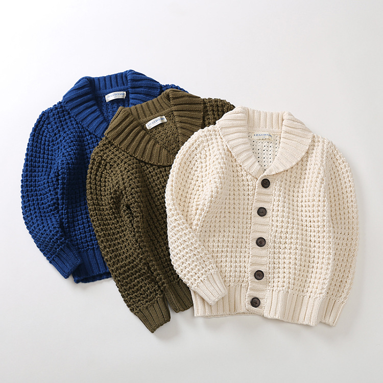 2019 4T 12TShirt collar Boys Sweaters Kids Cardigan Boys Winter Tops Children Clothes Children Sweaters Boy Clothing School in Sweaters from Mother Kids