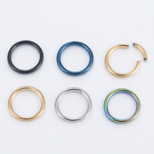 Classic Hinged Seamless Segment Ring Surgical Steel Nose Hoop Punk Earring Labret Septum piercing oreja Ring plugs and tunnels