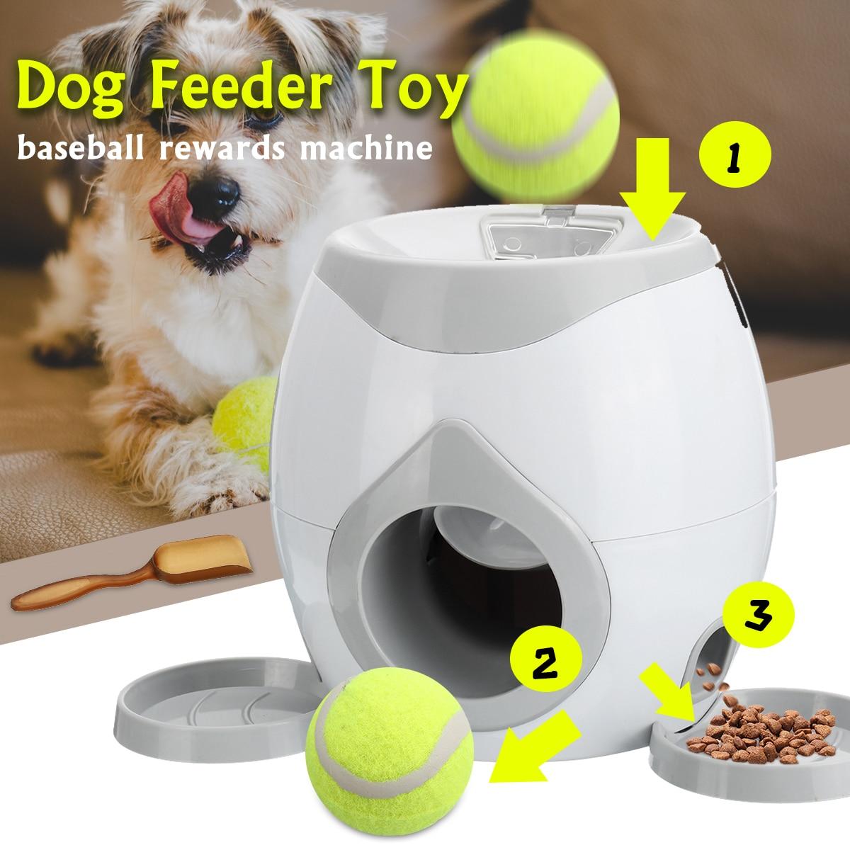 Automatic Dog Ball Feeder Award Tennis Toy Reward Interactive Machine Ball Thrower Educational Entertainment Pet Supplies+Spoon Under-cabinet lighting