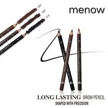 À prova dwaterproof água natural nenhum blooming rotativo automático olho eyeliner sobrancelha caneta lápis maquiagem escova marrom beleza cosméticos ferramenta
