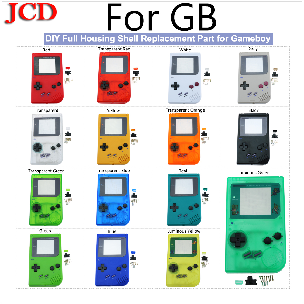 JCD DIY Full housing shell <font><b>case</b></font> for <font><b>GB</b></font> replacement For Nintendo for Gameboy Classic DMG part for <font><b>GB</b></font> DMG GBO Plastic Shell Cover image