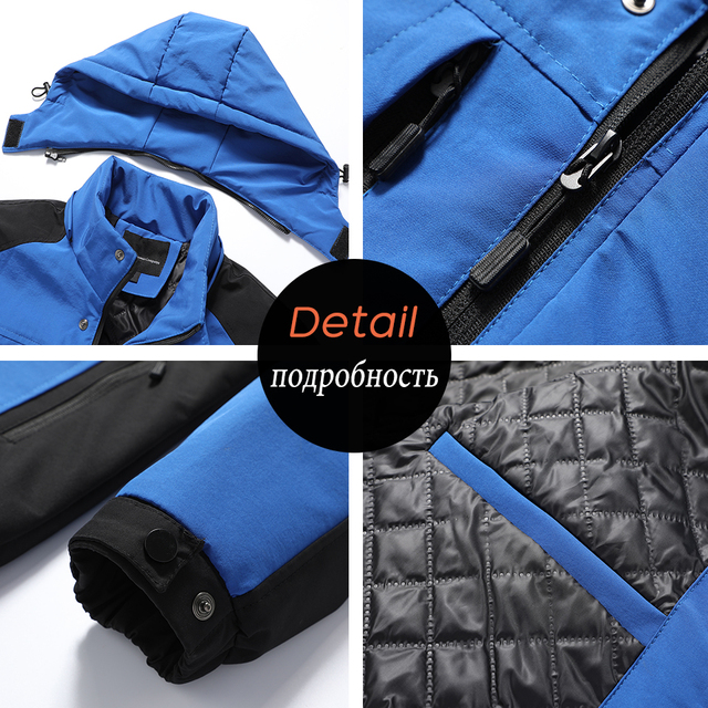 Oiata Men 2021 Spring New Brand Outdoor Vintage Thick Jacket Coat Men Autumn Fashion Patchwork Waterproof Pockets Hat Jackets 6